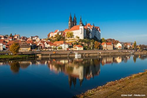 Die Albrechtsburg in Meißen dominiert das Stadtbild und ist von jeder Immobilie aus zu sehen