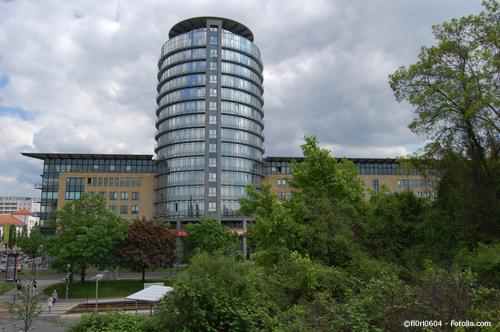 Das World Trade Center Dresden bietet moderne Büroräume zur Miete