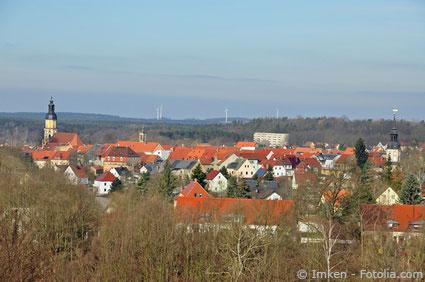 Blick über die Stadt Königsbrück mit seinen Häusern
