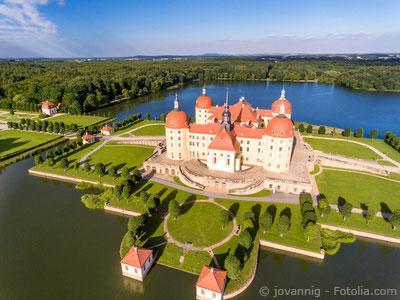Lufaufnahme auf Schloss Moritzburg