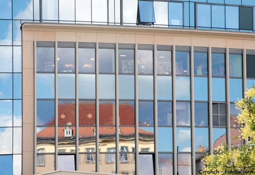 Eine neu gebaute Dresdner Gewerbeimmobilie für Büroräume