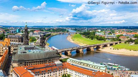 Panoramablick über Dresden.