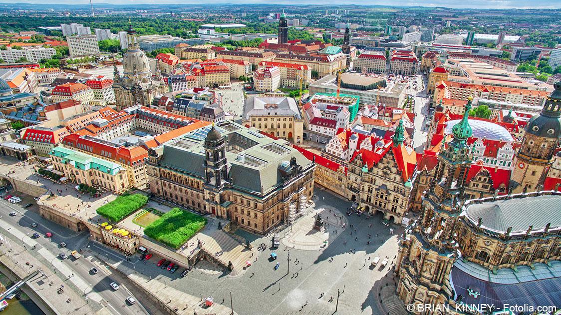 Luftaufnahme Dresden Altstadt