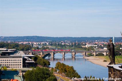 Ausblick Richtung Dresden Kaditz.