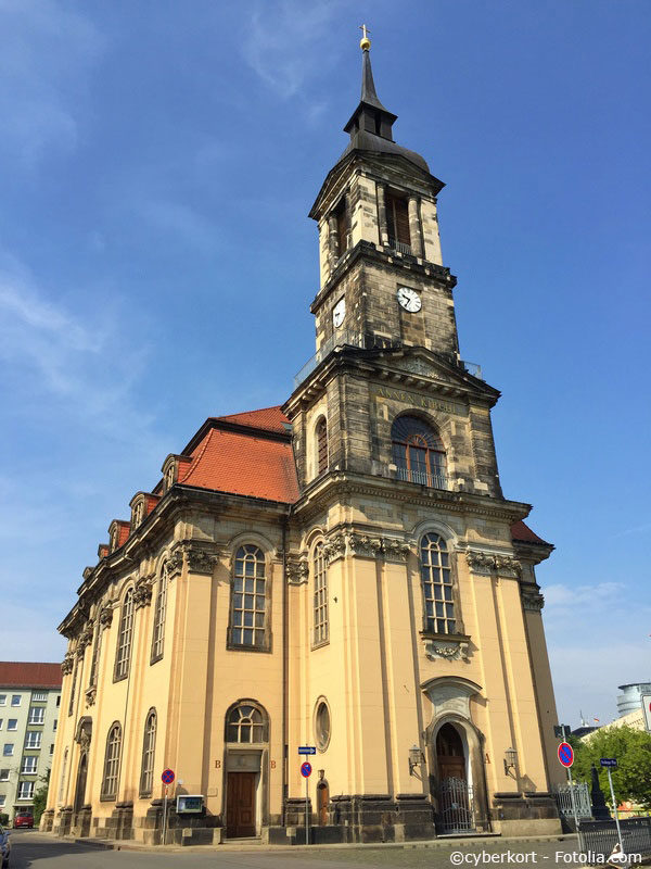 Annenkirche in Dresden Wilsdruffer Vorstadt.